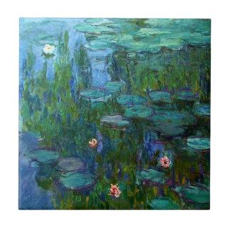 Monet Nympheas Wasser-Lilien-Fliese Kleine Quadratische Fliese