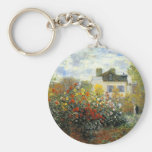 Monet Rose Garden Key Chain
