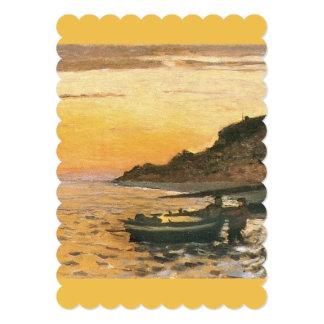 Monet Seeküste-Heiliges Adresse Sonnenuntergang 12,7 X 17,8 Cm Einladungskarte