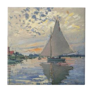 Monet Segelboot-Franzose-Impressionist Fliese