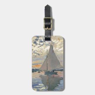 Monet Segelboot-Franzose-Impressionist Kofferanhänger