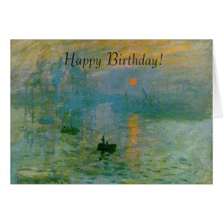 Monet Sonnenaufgang, der alles- Gute zum Grußkarte