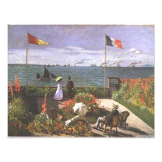 Monet Terasse morgens Meeresufer von Sainte Individuelle Ankündigung