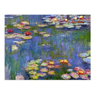 Monet Wasser-Lilien 1916 Postkarte