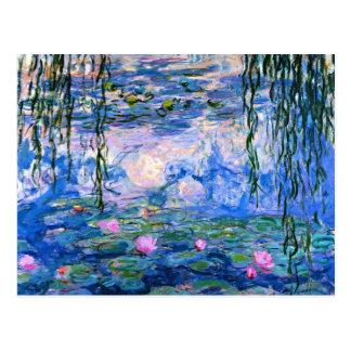 Monet - Wasser-Lilien, Grafik 1919 Postkarte
