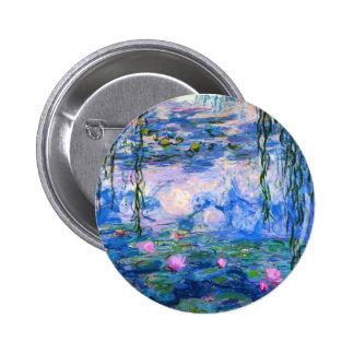 Monet Wasser-Lilien-Knopf Runder Button 5,7 Cm