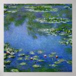 Monet Wasser-Lilien Poster