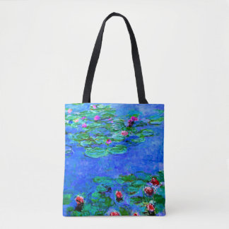 Monet - Wasser-Lilien (rot) Tasche