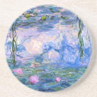 Monet Wasser-Lilien Sandstein Untersetzer