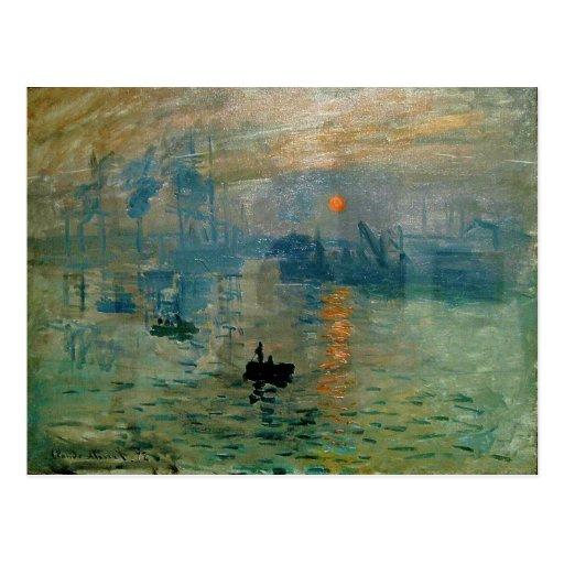 Monets Eindrucks-Sonnenaufgang (soleil levant) - 1 Postkarte