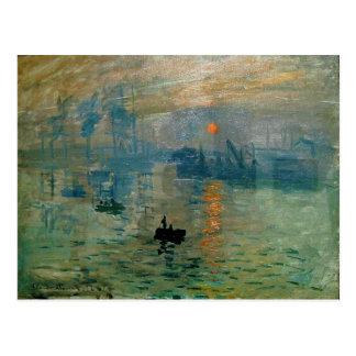 Monets Eindrucks-Sonnenaufgang (soleil levant) - Postkarten
