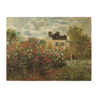 Monets Garten in Argenteuil durch Claude Monet Holzleinwand