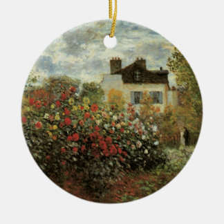 Monets Garten in Argenteuil durch Claude Monet Keramik Ornament