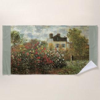Monets Garten in Argenteuil durch Claude Monet Strandtuch