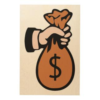 MONEYBAGS HOLZDRUCK