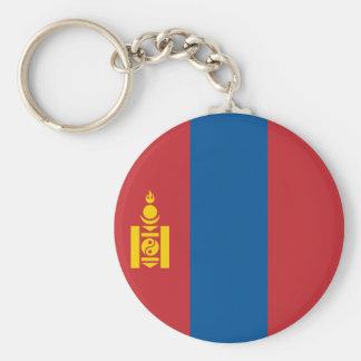 Mongolei-Flagge Standard Runder Schlüsselanhänger
