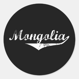 Mongolei-Revolutions-Art Runder Aufkleber