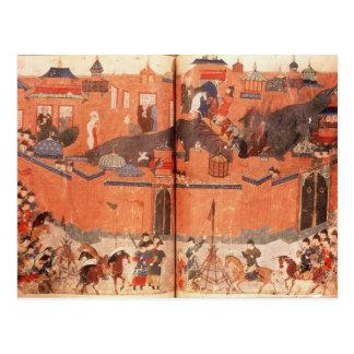 Mongolen unter Führung von Hulagu Khan Postkarte