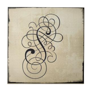 """mongram """"S"""" Fliese"""