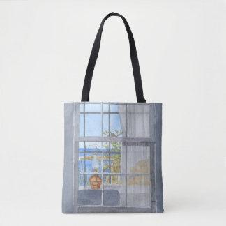 Monhegan Hütten-Fenster-Ansicht Tasche