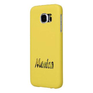 Monica fertigte gelbe Samsung-Galaxieabdeckung
