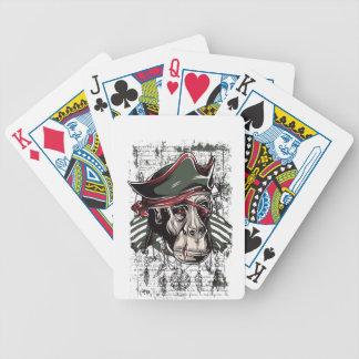 monkey den niedlichen Entwurf des Piraten Bicycle Spielkarten