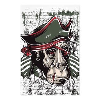 monkey den niedlichen Entwurf des Piraten Briefpapier