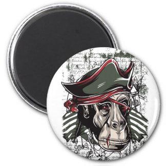 monkey den niedlichen Entwurf des Piraten Runder Magnet 5,7 Cm