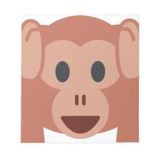 Monkey emoji notizblock
