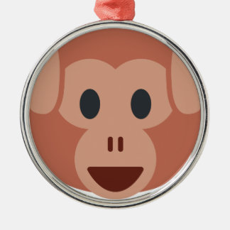 Monkey emoji silbernes ornament