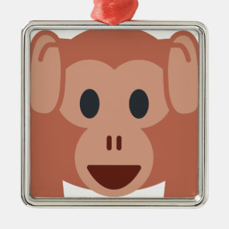 Monkey emoji silbernes ornament