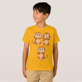 Monkey kein hören kein zu sehen kein zu sprechen T-Shirt