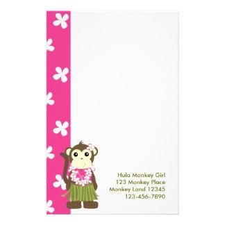 monkeyflowers2, girlmonkeytrop, Hula Affe Gir… Briefpapier