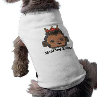 Monking um Hundeshirt T-Shirt