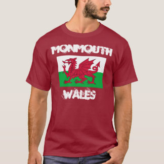 Monmouth, Wales mit Waliser-Flagge T-Shirt