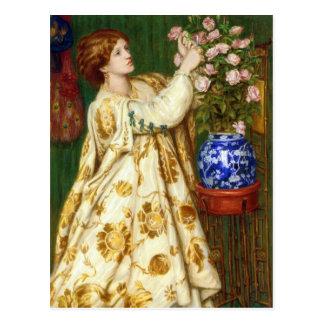 Monna Rosa durch Dante Gabriel Rossetti Postkarte