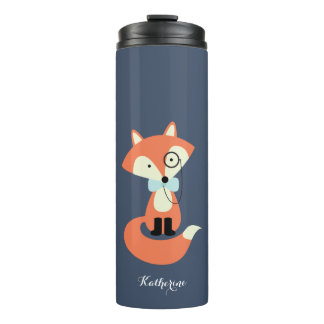 Monocle-Hipsterroter Fox Thermosbecher