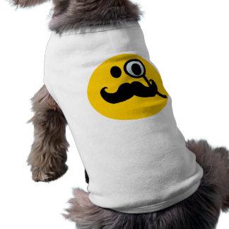 Monocle-u. Schnurrbart-smiley (kundengerechtes bac Haustierkleidung