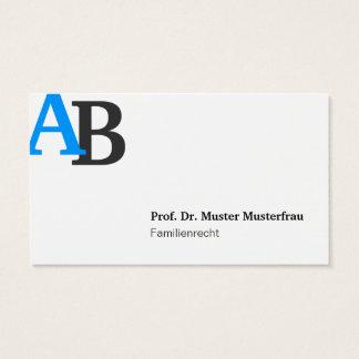 Monogram Visitenkarten