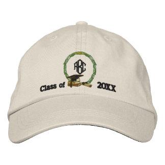 Monogramed Abschluss Bestickte Mütze