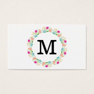 Monogramm 2 der Blumen-| Visitenkarte