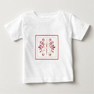 Monogramm A mit Gelb u. Kastanienbraun Baby T-shirt