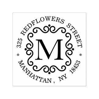 Monogramm-Adressen-Briefmarke Permastempel