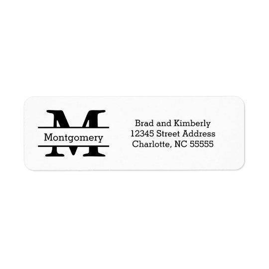 Monogramm - Adressen-Etiketten