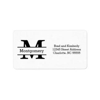 Monogramm - Adressen-Etiketten Adressaufkleber