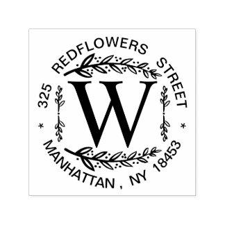 Monogramm-Adressen-Hochzeits-Briefmarke Permastempel