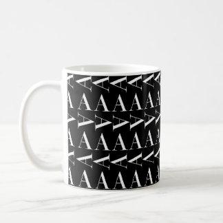Monogramm-Anfangsmuster, beschriften A im Weiß Kaffeetasse