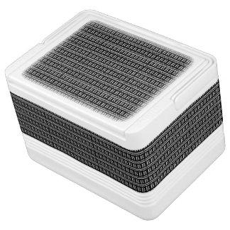 Monogramm-Anfangsmuster, Buchstabe B im Weiß Kühlbox