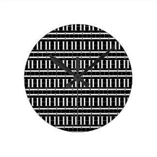 Monogramm-Anfangsmuster, Buchstabe H im Weiß Runde Wanduhr