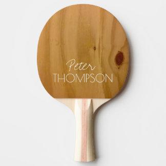 Monogramm auf Imitatholzkörnern Tischtennis Schläger
